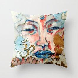 Buddah, lotus and OM Throw Pillow
