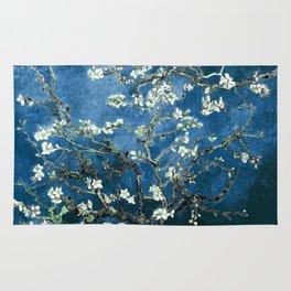 Van Gogh Almond Blossoms : Ocean Blue Rug