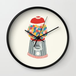 Gum Ball Machine Wall Clock