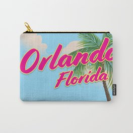 Orlando Florida Vintage style travel poster Carry-All Pouch