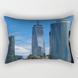 Manhattan View From Hudson River Rectangular Pillow