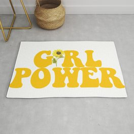 GIRL POWER SUNFLOWER Rug