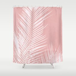 Palm Leaves on Pink II Shower Curtain