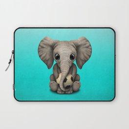 Cute Baby Elephant With Football Soccer Ball Laptop Sleeve