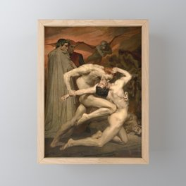 DANTE AND VIRGIL - WILLIAM-ADOLPHE BOUGUEREAU Framed Mini Art Print