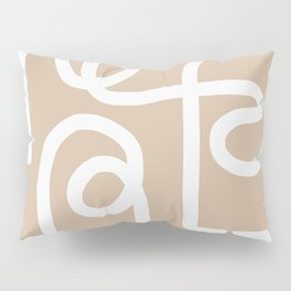 beige squiggle Pillow Sham