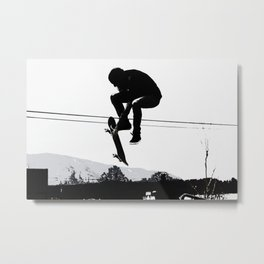 Flying High Skateboarder Metal Print