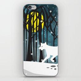 White Wolf at Midnight iPhone Skin