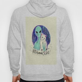 alien and cat anti-human squad Hoody