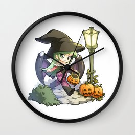 Halloween Morrigan Wall Clock