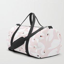 Swan Pattern on Pink 030 Duffle Bag
