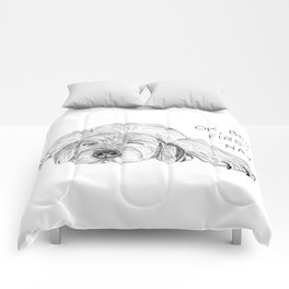 Dog napping Comforters