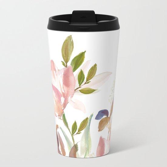 Darling Blooms Metal Travel Mug