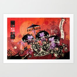 Diplomatic Party With Alien Friends Art Print