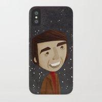 sagan iPhone & iPod Cases featuring Carl Sagan by Stephanie Fizer Coleman