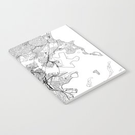Boston White Map Notebook