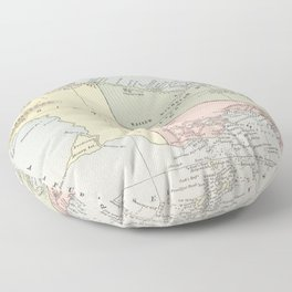 Vintage Map of New Guinea (1901) Floor Pillow