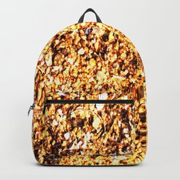 Coarse sand close-up Backpack