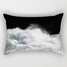 Water Photography | Wild Rapids | Waves | Ocean | Sea Minimalism Rectangular Pillow