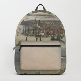 Vintage Pictorial Map of New York City (1848) Backpack