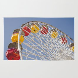 California Wheelin - Santa Monica Pier Rug