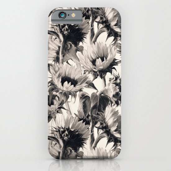 Sunflowers in Soft Sepia iPhone & iPod Case