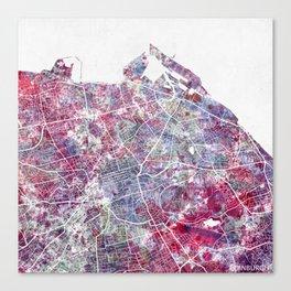 Edinburgh Map Canvas Print