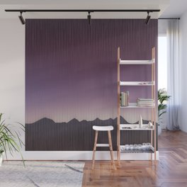Pink mountains Wall Mural