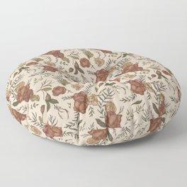 Antique Floral Pattern Floor Pillow