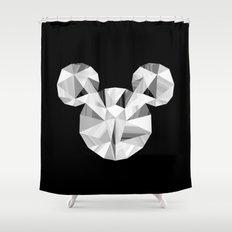 Silver Pop Crystal Shower Curtain