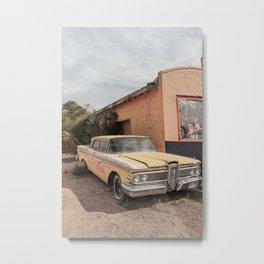 Vintage American Car Art Print | Famous Route 66 Scene Arizona Photo | USA Color Travel Photography Metal Print