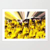 Purple Yellow  Art Print