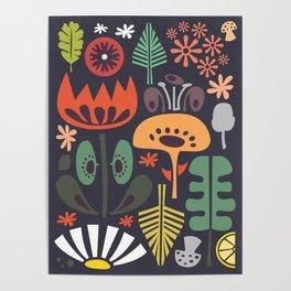 Scandinavian Wildflowers Poster