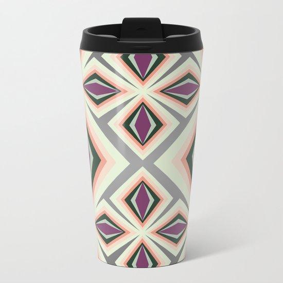 Contemporary Geometric Design Metal Travel Mug