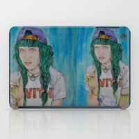 grimes iPad Cases featuring Grimes by Jenn