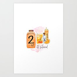 An Old Fashioned Cocktail Art Print