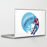 nfl Laptop & iPad Skins featuring American Football by Studio|19