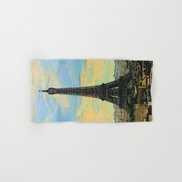 Watercolor Dream of Paris Hand & Bath Towel