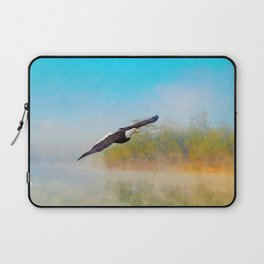 Bald Eagle Out of the Mist Laptop Sleeve