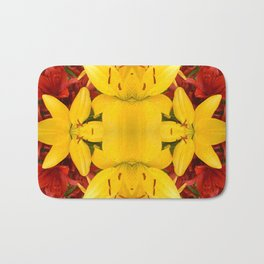 """A Gathering of Lilies"" Remix - 4 (3-1) [D4469~57] Bath Mat"