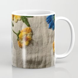 Flowers stitched Coffee Mug