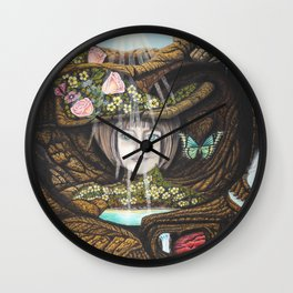 La source de l'amour Wall Clock