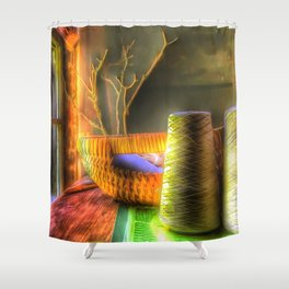 The Sewing Basket Shower Curtain