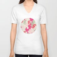 splatter V-neck T-shirts featuring Splatter by C Designz