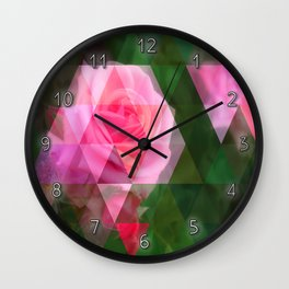Pink Roses in Anzures 1 Art Triangles 1 Wall Clock