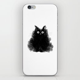 Duster - Black Cat Drawing iPhone Skin