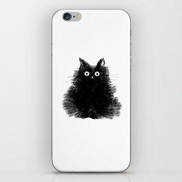 Duster - Black Cat Drawing iPhone Skin