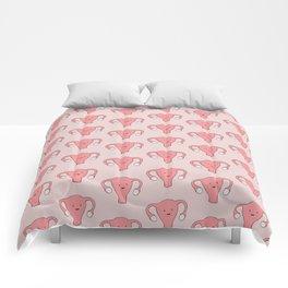 Patterned Happy Uterus in Pink Comforters
