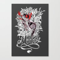 modest mouse Canvas Prints featuring Modest Mouse by Supuru