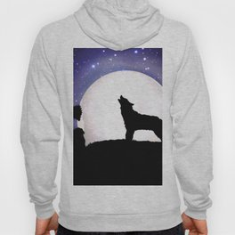 Wolf Howling to the Moon Hoody